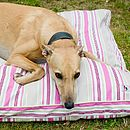 Summer Stripe Pink Memory Foam Dog Bed