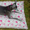 Taupe Floral Memory Foam Dog Bed