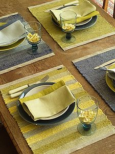Hand Woven Multicolor Linen Placemat Lara - kitchen