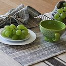 Natural Multistriped Linen Placemat