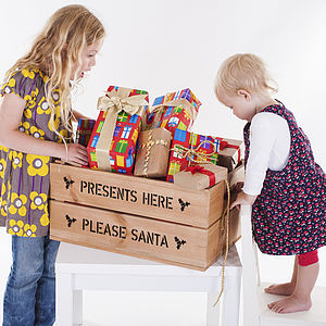 Personalised Large Christmas Gift Crate - gift boxes