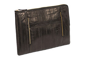 Eel Skin Soft Leather iPad /Tablet Clutch By Makki - laptop bags & cases
