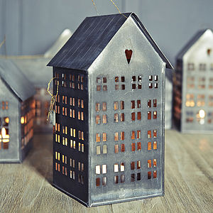 Mini City Candle Houses - table decoration