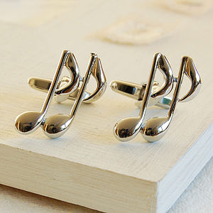 Music Note Cufflinks - cufflinks