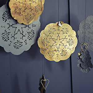 Metallic Doily Plates - view all decorations