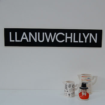 Personalised Place Name Bus-Blind Style Print