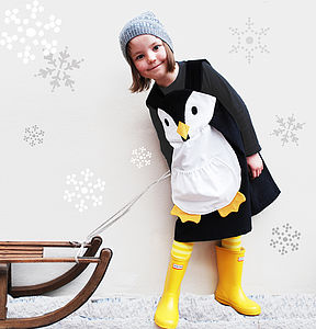 Girls Penguin Dress - dresses