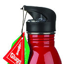 glugg water bottle red