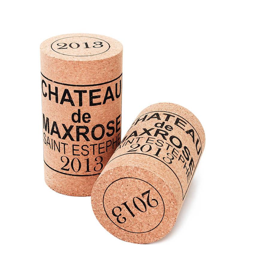 Wine Cork Stool Giant Xl Cork Low Stool Chateau De Max