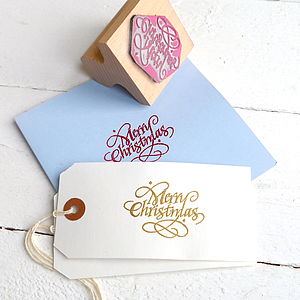 Merry Christmas Stamp - cards & wrap