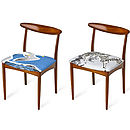 Set Of Two Bird And Zebra Dining Chairs