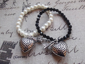 Paris Heart Bracelet