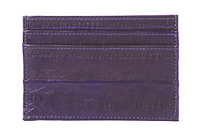 Eel Skin Card Holder - wallets & money clips