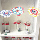 Handmade Miniature Flower Message Keepsake
