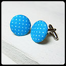 Polka Dot Fabric Cufflinks