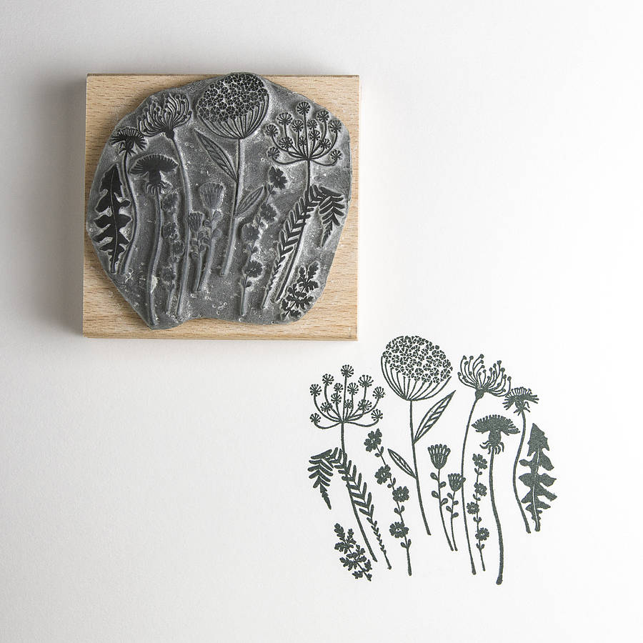 Flower Silhouette Rubber Stamp