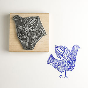 Stitch Bird Handmade Stamp