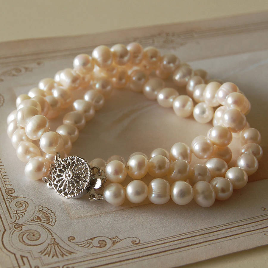 white gold freshwater in cultured bracelet pearl pearls