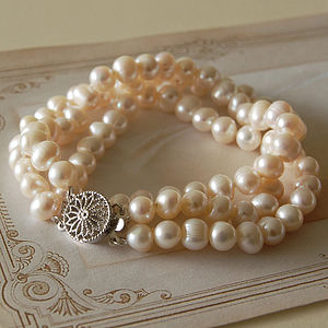 Three Strand Pearl Bracelet - women's jewellery