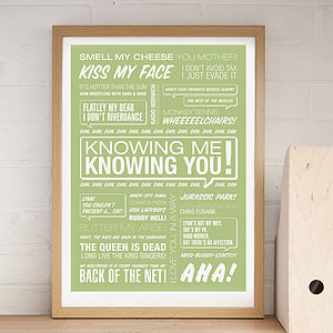 'Knowing Me, Knowing You!' Typographic Print