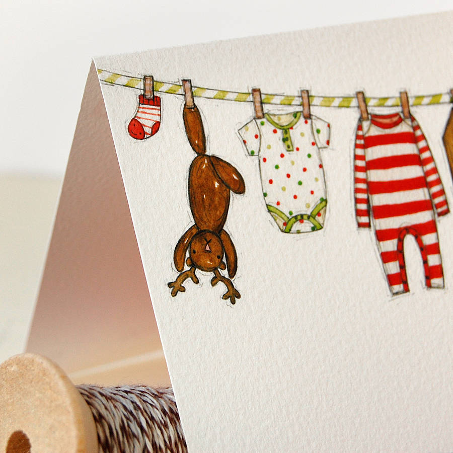 personalised baby's first christmas card by clara and macy ...