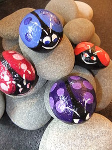 Personalised Ladybird Pebble - art & decorations