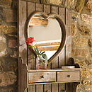 Heart Mirror with Drawers