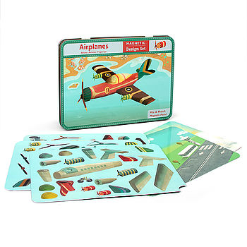 Airplane tin and contents