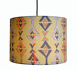 Aztec Lampshade - dining room