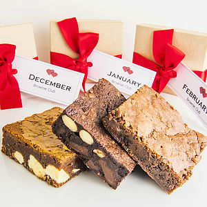 Valentines Chocolate Brownie Subscription - secret santa gifts
