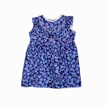 Blueberry Baby Pinafore Dress
