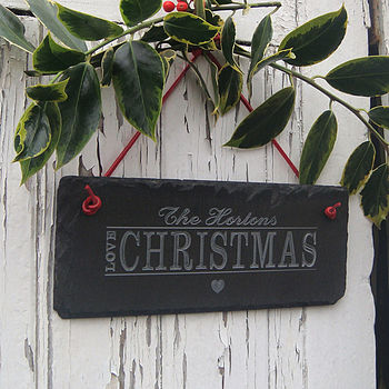 Personalised love Christmas Sign