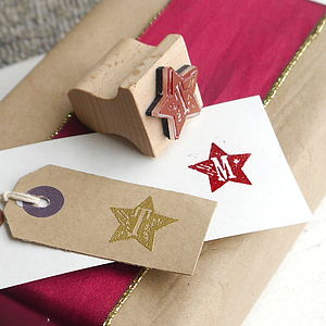 Star Letter Rubber Stamp - stationery