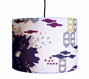 Abstract Flower Lampshade - dining room