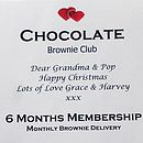 Monthly Brownie Club Gift Certificate