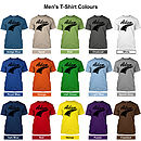 Men's T-Shirt Colours (Black Design)