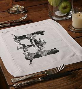 Dogs Tea Party Table Mat - bed, bath & table linen