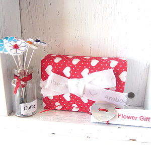 Handmade Flowers Miniature Personalised Gift - fresh & alternative flowers