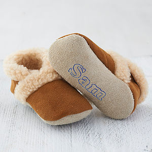 Personalised Sheepskin Booties - best personalised gifts