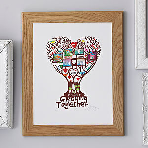 Personalised Family 'Growing Together' Print - children's room