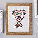 Personalised Family 'Growing Together' Print