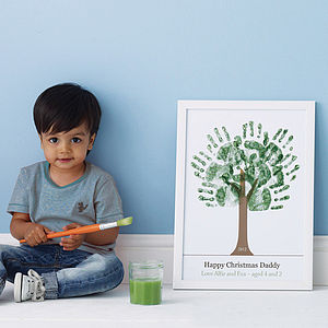Personalised Hand Print Tree Poster - family tree gifts