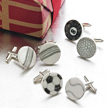 Mix And Match Sport Ball Cufflinks