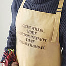 Personalised Men's Chef Apron