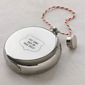 'Put Some Hair On Your Chest' Hip Flask - hip flasks