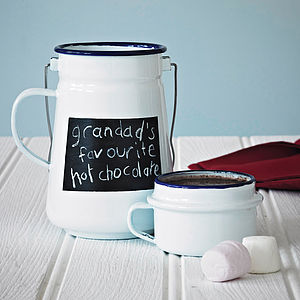 Enamel Chalkboard Flask And Mug - picnicware
