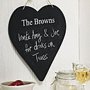Personalised Heart Chalkboard