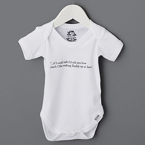 Baby Thoughts Organic Babygrow - new baby gifts