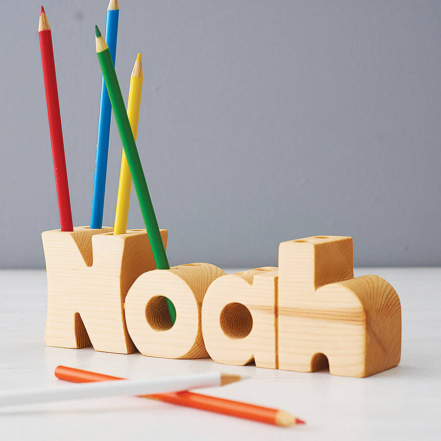 Pen Stand Designs : Personalised name pen holder by croglin designs