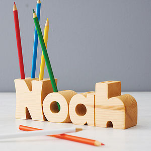 Personalised Name Pen Holder - gifts for children